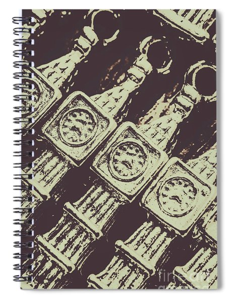 England Tourism Past Spiral Notebook