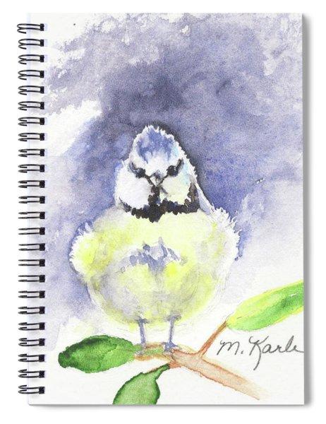 English Blue Tit Spiral Notebook