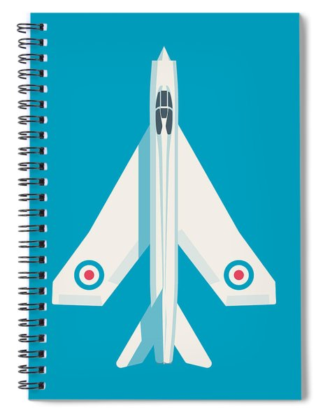 English Electric Lightning Fighter Jet Aircraft - Blue Spiral Notebook