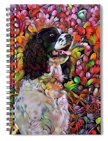 English Springer Spaniel In The Garden Spiral Notebook