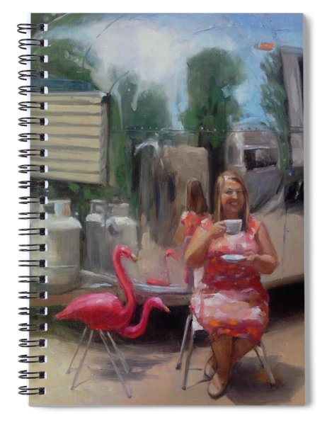 English Tea Time In Taos Spiral Notebook