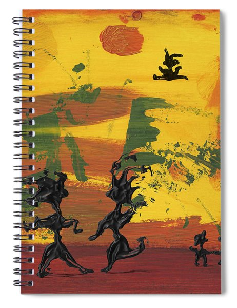 Spiral Notebook featuring the painting Enjoy Dancing by Manuel Sueess