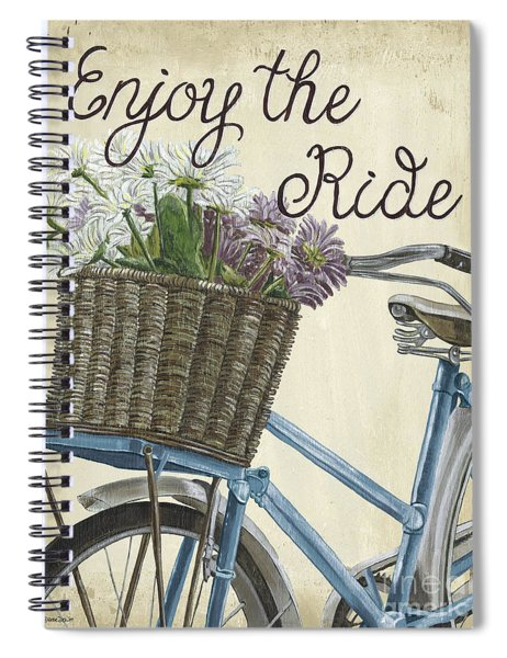 Enjoy The Ride Vintage Spiral Notebook
