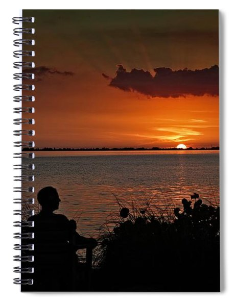Enjoying The Sunset Spiral Notebook