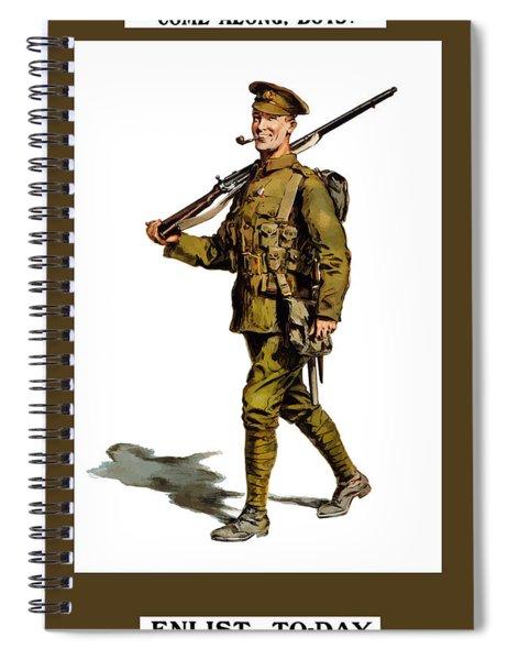 Enlist To-day - World War 1 Spiral Notebook