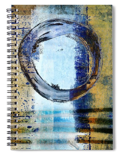 Enso Circle In Glass Spiral Notebook