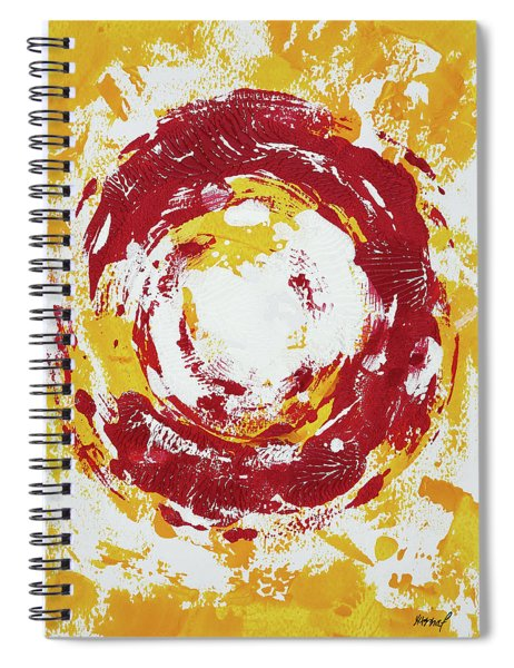 Enso Of Poppy Spiral Notebook