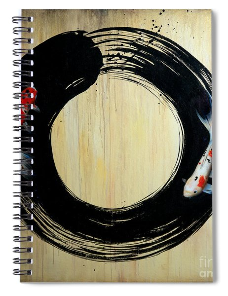 Enso With Koi Spiral Notebook