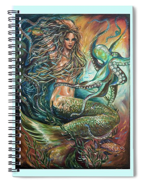 Entangled Mermaid Tryptich Spiral Notebook