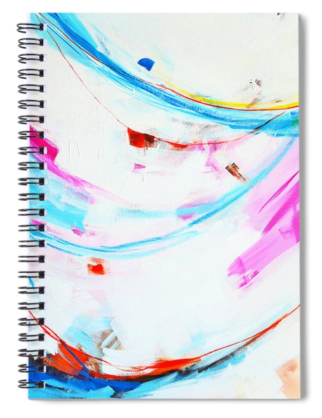 Entangled No. 8 - Left Side - Abstract Painting Spiral Notebook