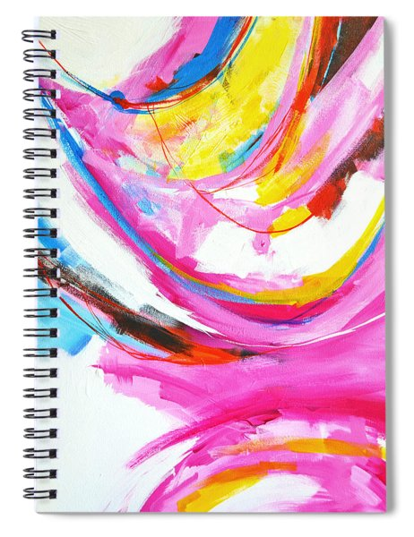 Entangled No. 8 - Right Side - Abstract Painting Spiral Notebook