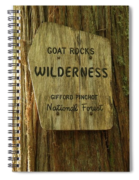 Entering The Goat Rocks Spiral Notebook