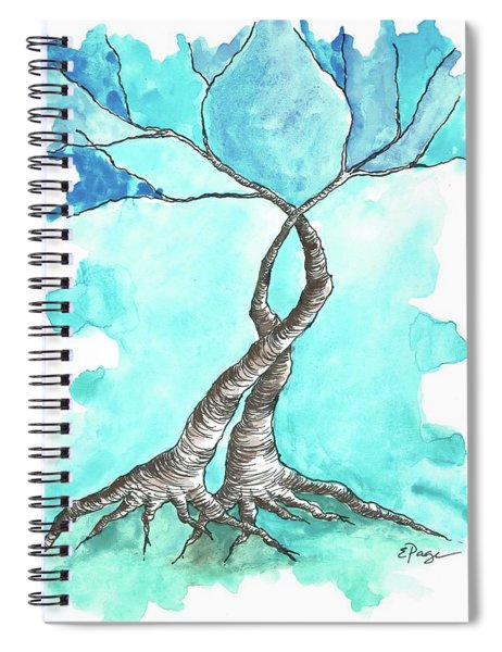 Entwined Trees Spiral Notebook