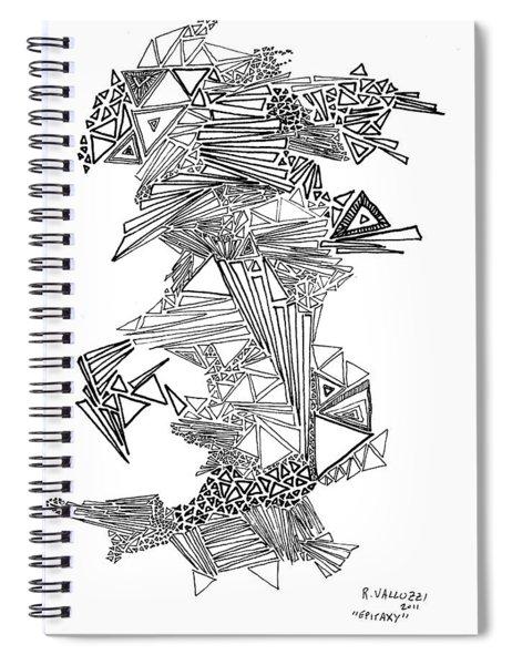 Epitaxy Ink Drawing By Regina Valluzzi Spiral Notebook