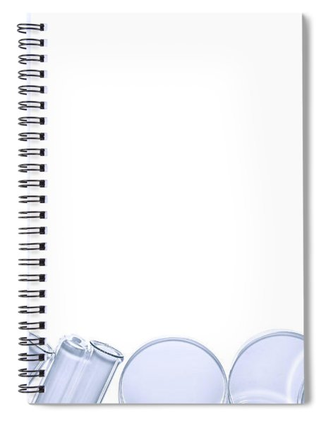 Equipment In Science Research Lab Background Spiral Notebook