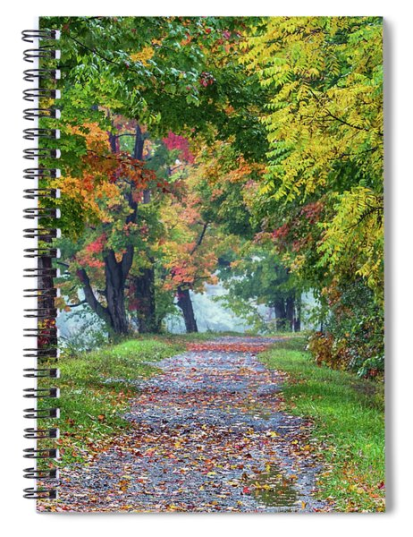 Erie Canal In Fall Spiral Notebook