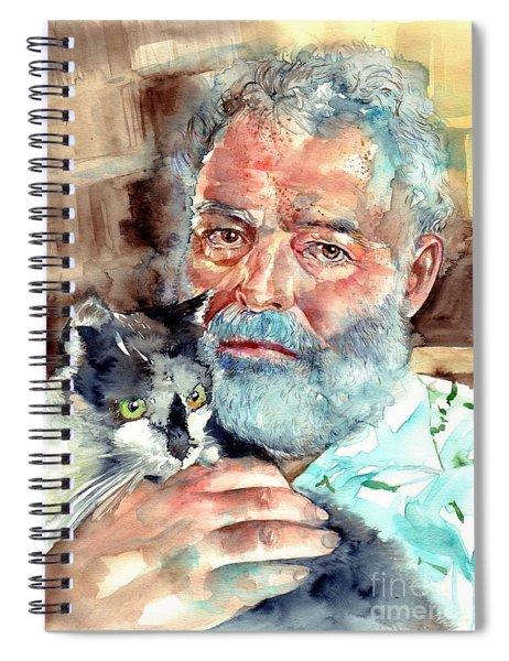 Ernest Hemingway Watercolor Spiral Notebook