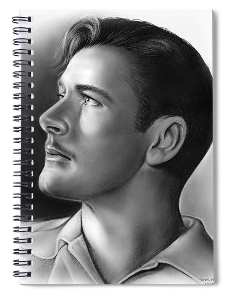 Errol Flynn Spiral Notebook