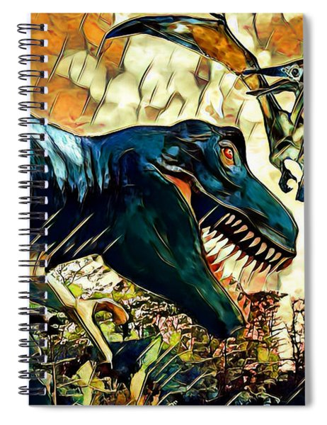 Escape From Jurassic Park Spiral Notebook