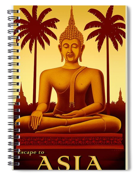 Escape To Asia Spiral Notebook