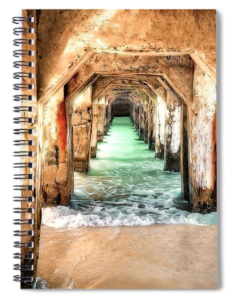 Escape To Atlantis Spiral Notebook