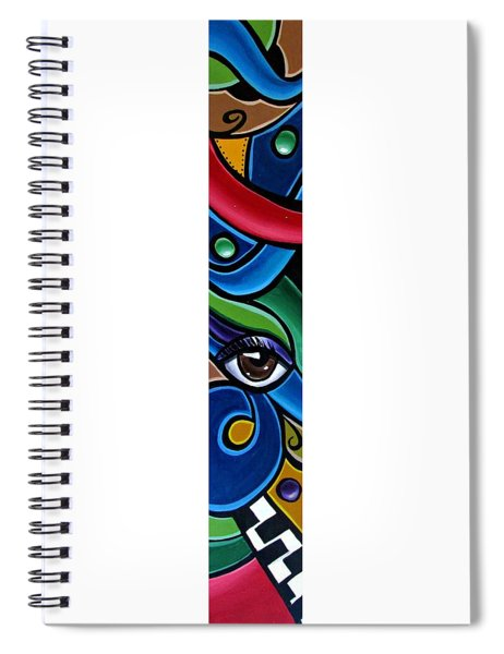Colorful Abstract Art Painting, Modern Art Brown Eye Art Paintings Spiral Notebook