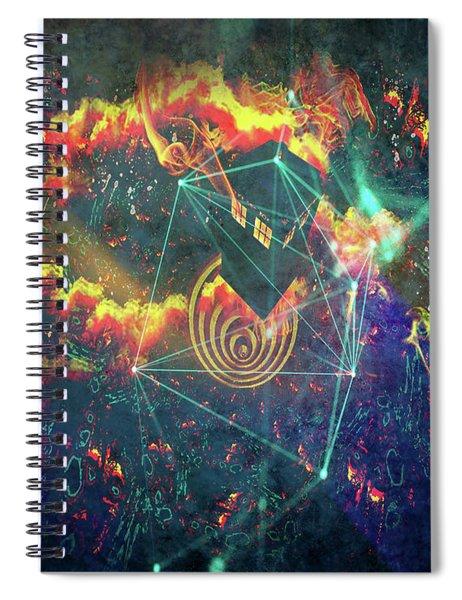 Escaping The Vortex Spiral Notebook