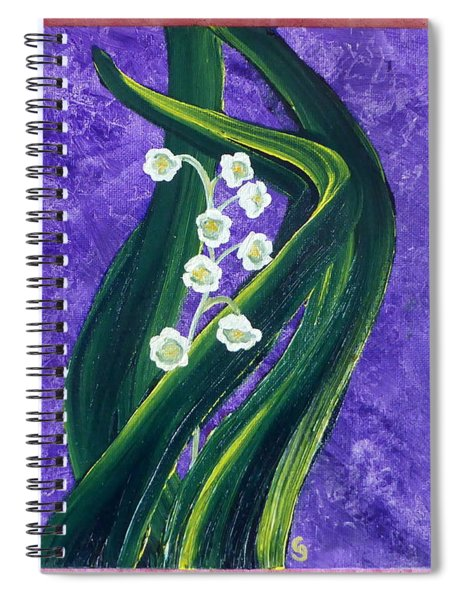 Escaping Winter Lilly Of The Valley Spiral Notebook