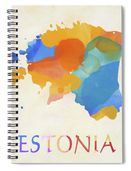 Estonia Watercolor Map Spiral Notebook