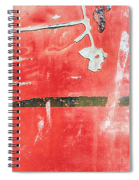 Etched Scratchings Of A Mad Red Monk Spiral Notebook