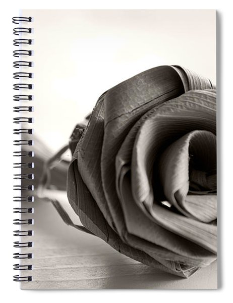 Eternal Rose In Sepia Spiral Notebook