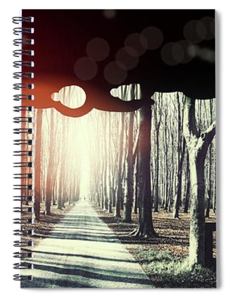Eternity, Conceptual Background Spiral Notebook
