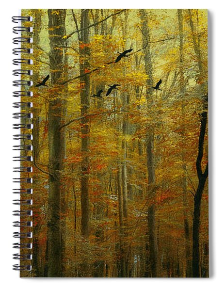 Ethereal Autumn Spiral Notebook