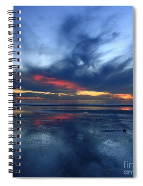 Ethereal Beach Blues Spiral Notebook
