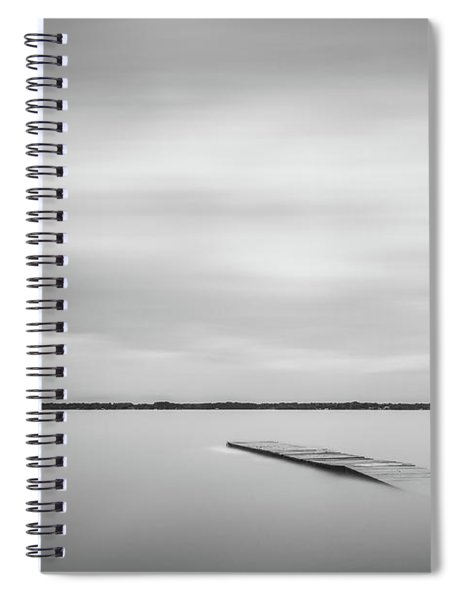 Ethereal Long Exposure Of A Pier In The Lake Spiral Notebook