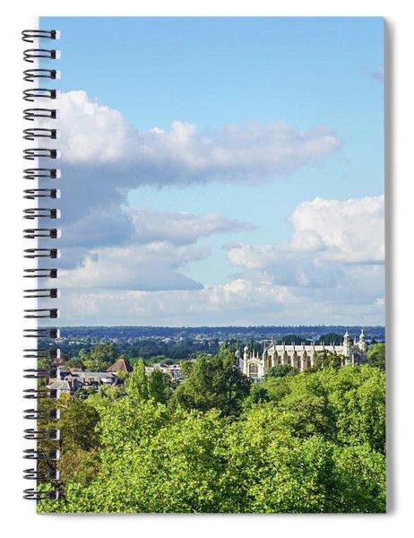 Eton College From Windsor Castle Spiral Notebook