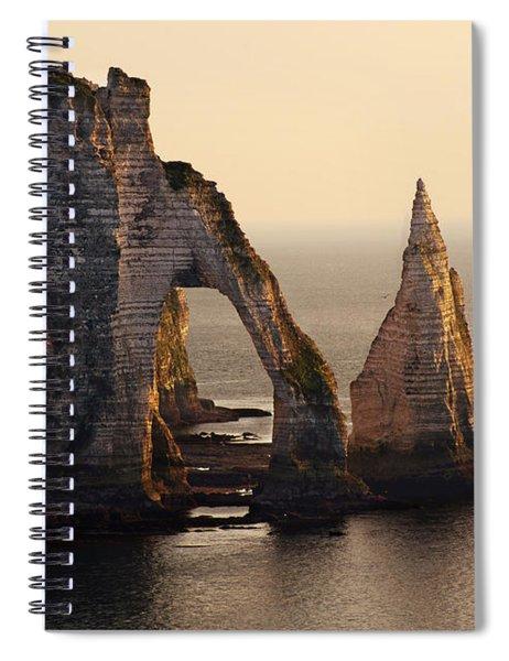 Etretat In Morning Sun Spiral Notebook