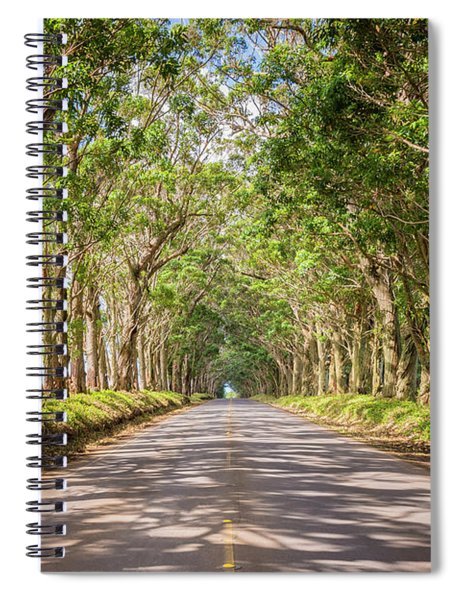 Eucalyptus Tree Tunnel - Kauai Hawaii Spiral Notebook