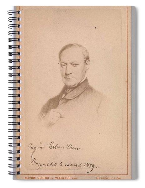 Eugene Joseph Verboeckhoven  By Hector De Saedeler Belgian, Active 1860s Spiral Notebook