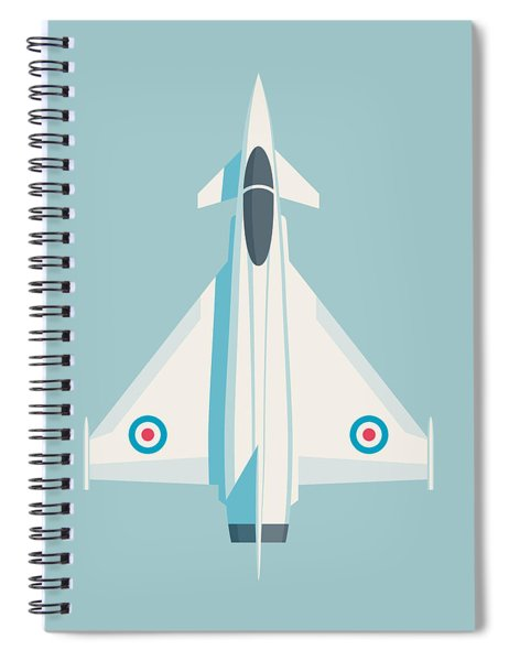 Typhoon Jet Fighter Aircraft - Sky Spiral Notebook
