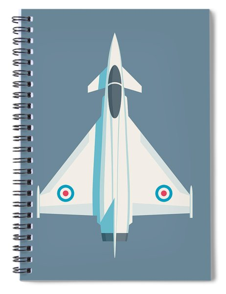 Typhoon Jet Fighter Aircraft - Slate Spiral Notebook