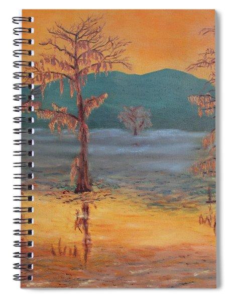 Evening On Caddo Lake Spiral Notebook