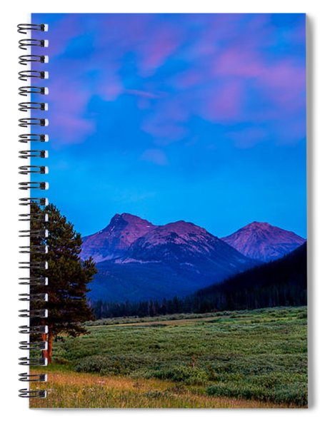 Evening At Christmas Meadows Spiral Notebook