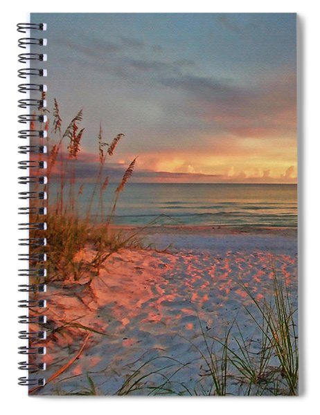 Evening At The Beach Spiral Notebook