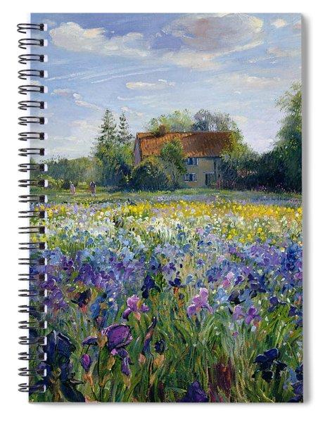 Evening At The Iris Field Spiral Notebook