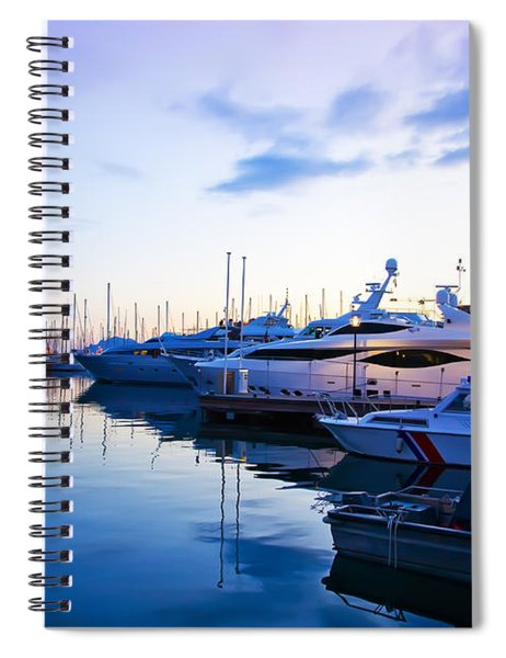 evening at water in Cannes Spiral Notebook