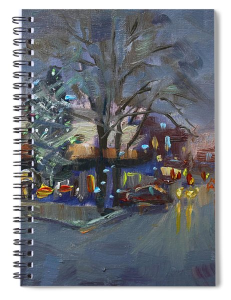 Evening At Webster And Main St Spiral Notebook