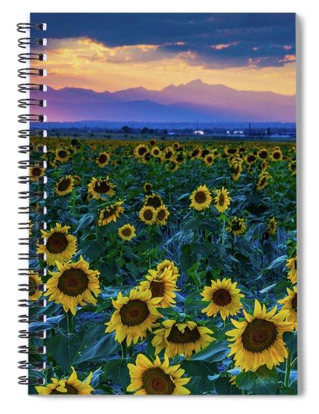 Evening Colors Of Summer Spiral Notebook