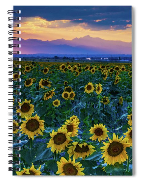 Spiral Notebook featuring the photograph Evening Colors Of Summer by John De Bord