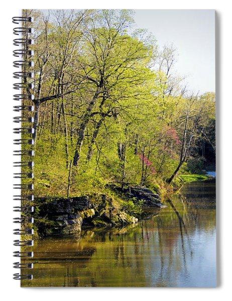 Evening Falls On Cedar Creek Spiral Notebook